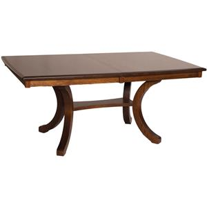 Bellevue Rectangular Counter Height Table with Splayed Legs and 2 Leaves