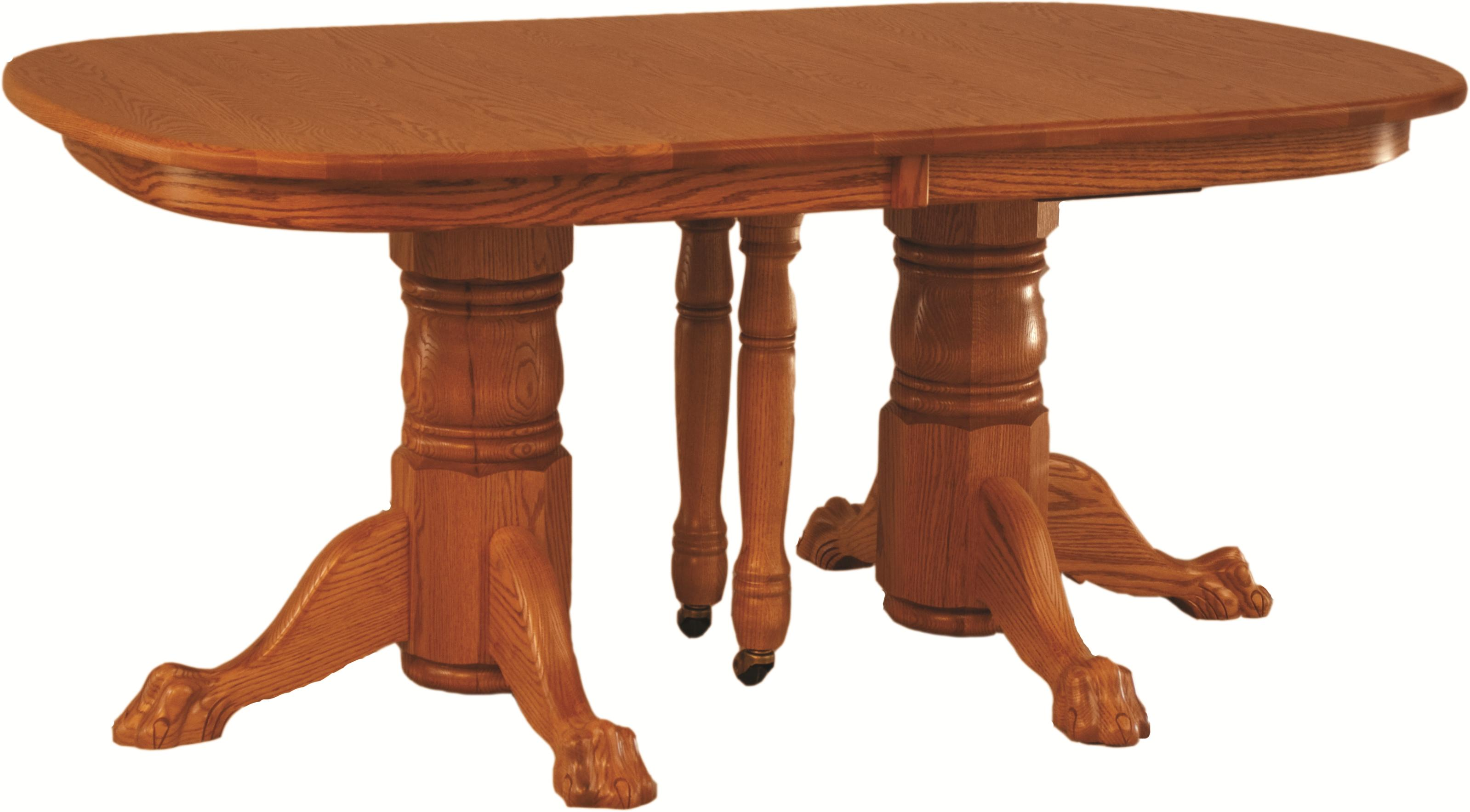 Casual Dining Double Pedestal Banquet Table by Oakwood Industries at Mueller Furniture