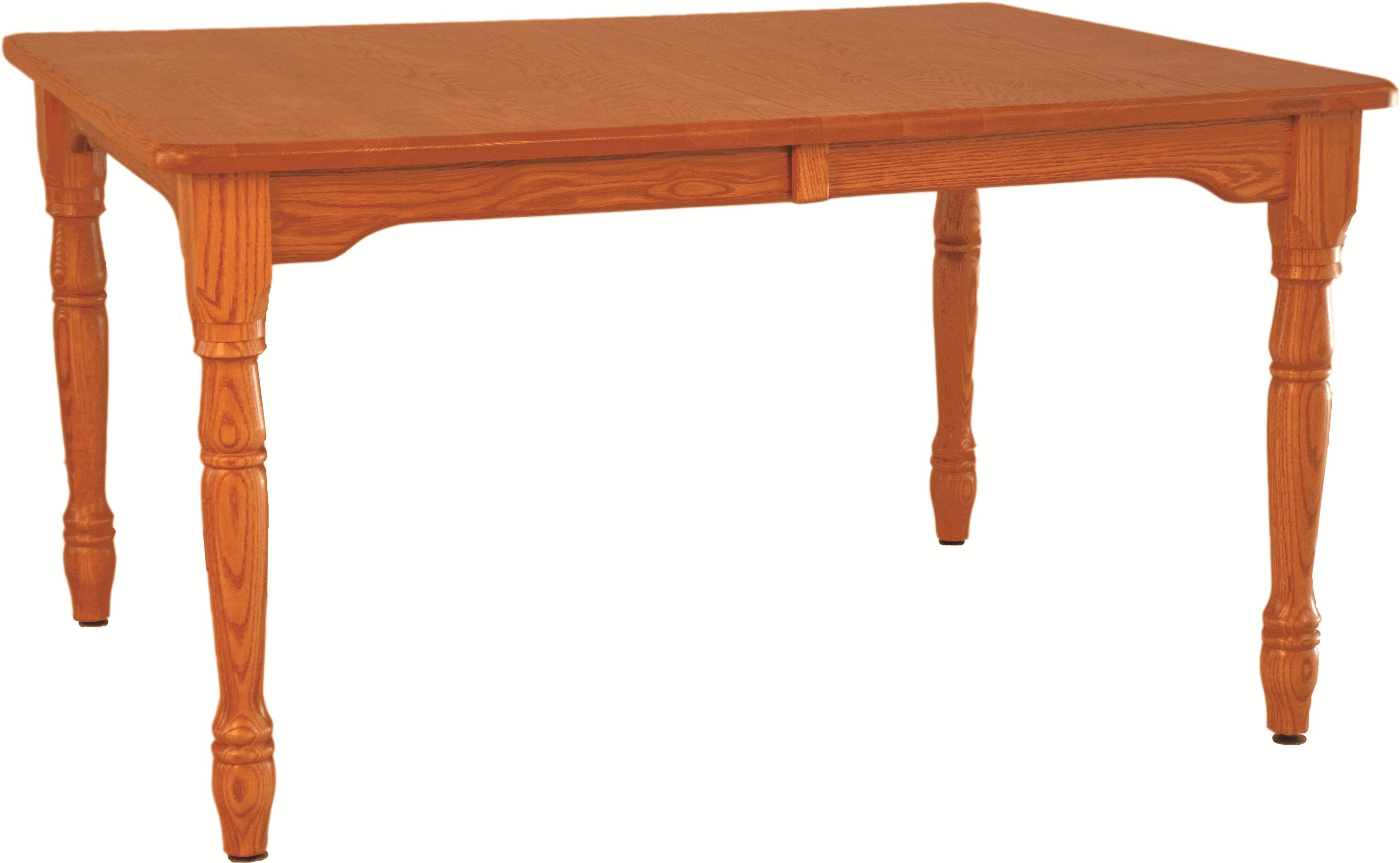 Casual Dining Farmhouse Table by Oakwood Industries at Mueller Furniture