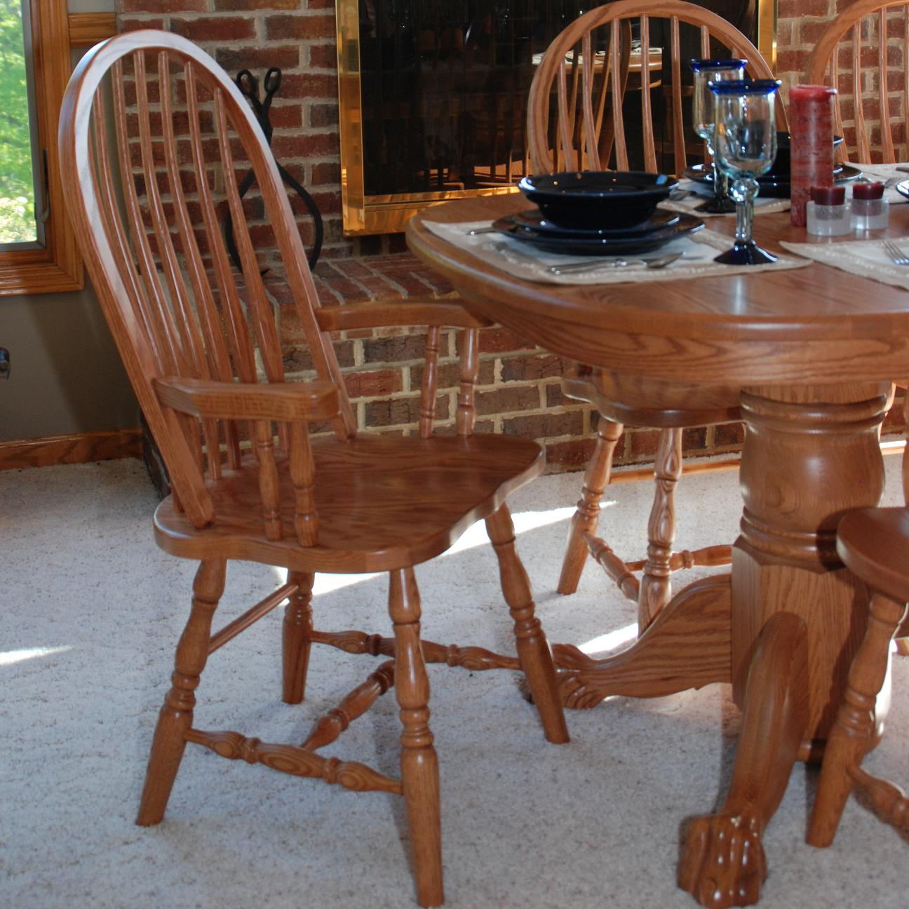 Casual Dining Bent Back Arm Chair by Oakwood Industries at Mueller Furniture
