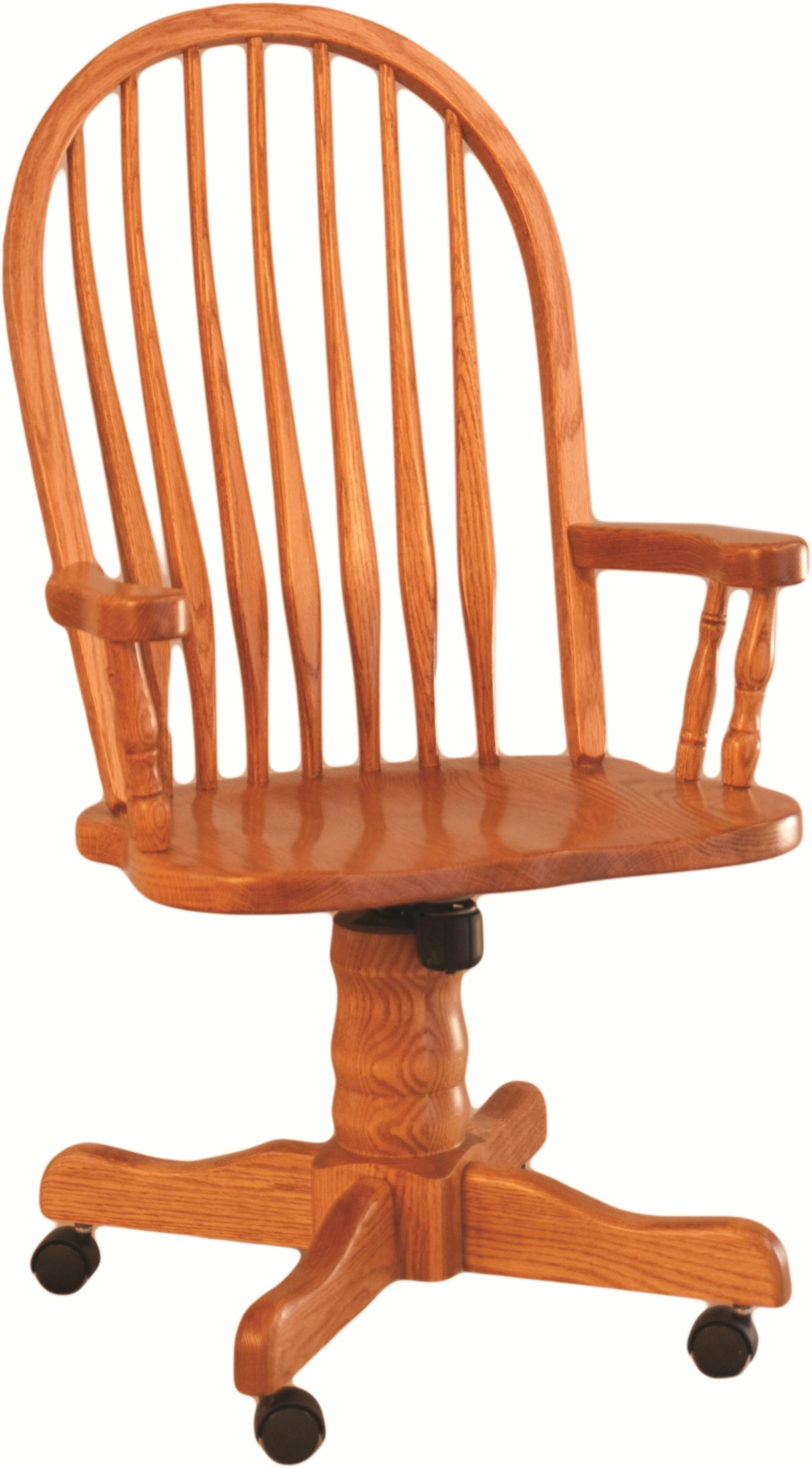 Casual Dining Bent Back Roller Arm Chair by Oakwood Industries at Mueller Furniture