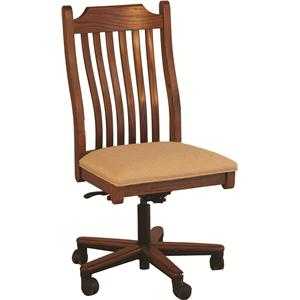 Mission Gas Lift Side Chair w/ Slats