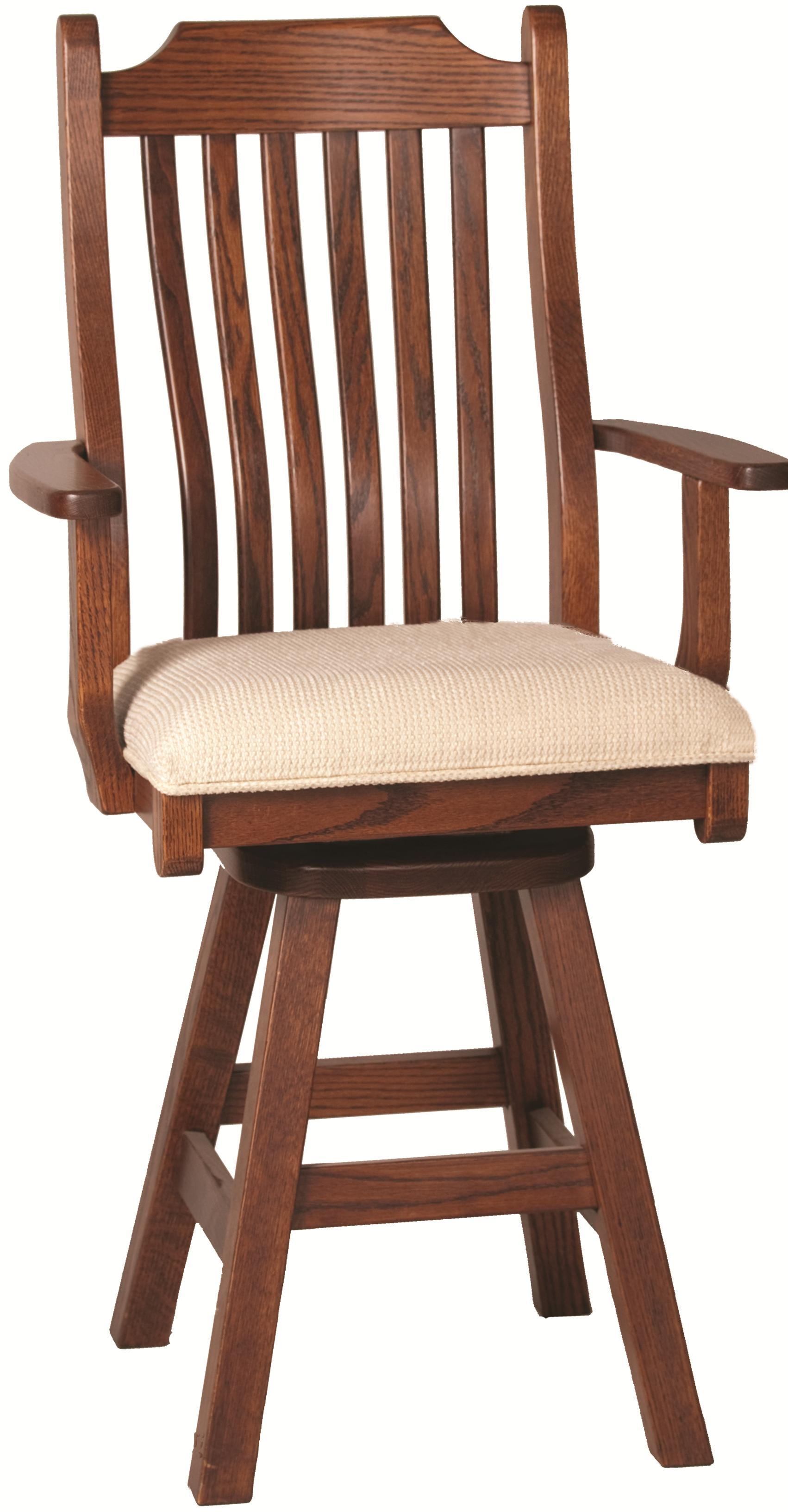 Casual Dining Mission Arm Barstool by Oakwood Industries at Mueller Furniture