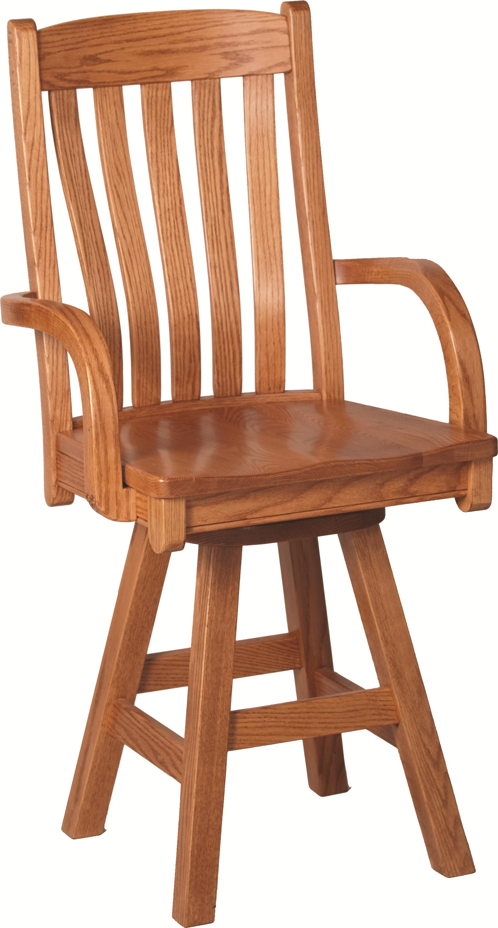 Casual Dining Contour Arm Barstool by Oakwood Industries at Mueller Furniture