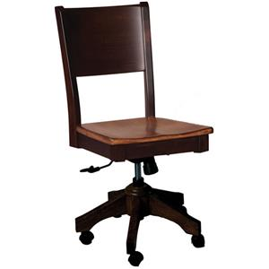 Sonata Roller Side Chair with Wood Back