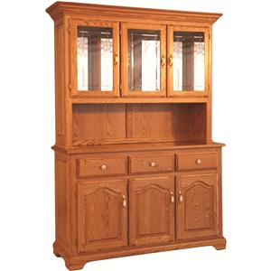 Homestead China Hutch w/ Buffet and Open Front