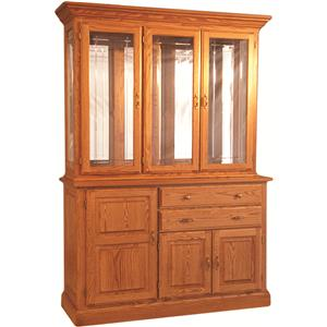 Town & Country China Hutch w/ Buffet and Touch Lighting