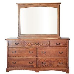 7-Drawer Dresser and Rectangular Mirror Combination