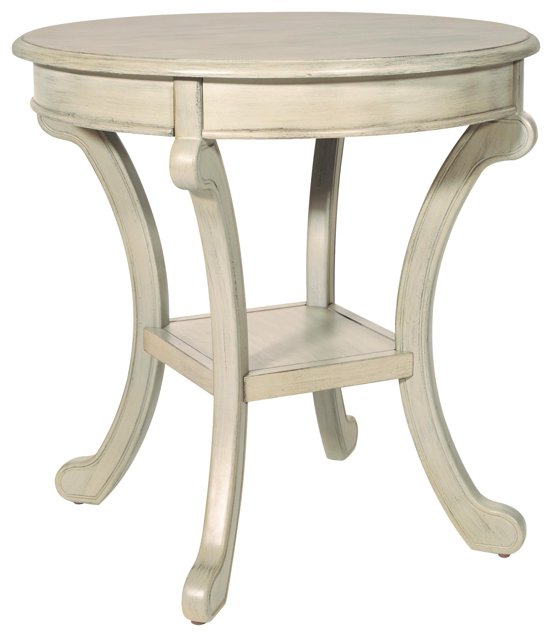 Antique Grey Chairside Table