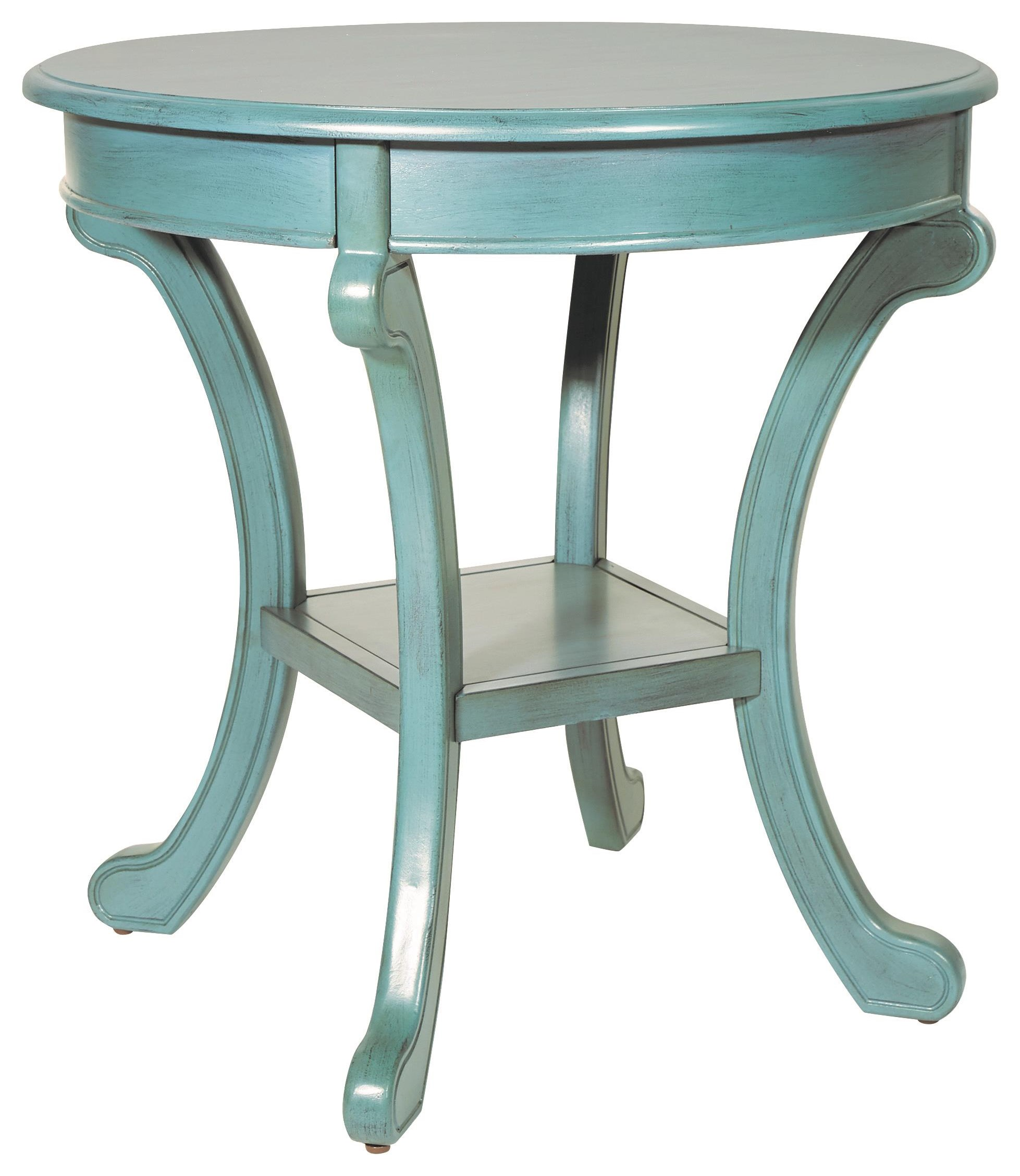 Caribbean Blue Chairside Table