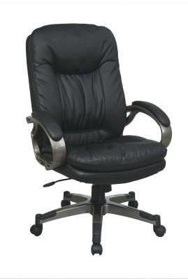 Executive Eco Leather Chairs Black Executive Leather Chair at Sadler's Home Furnishings