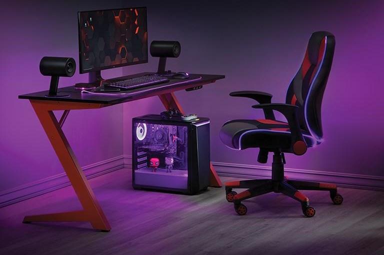 Gaming Desks Beta Battlestation Gaming Desk by Office Star at Sam Levitz Outlet