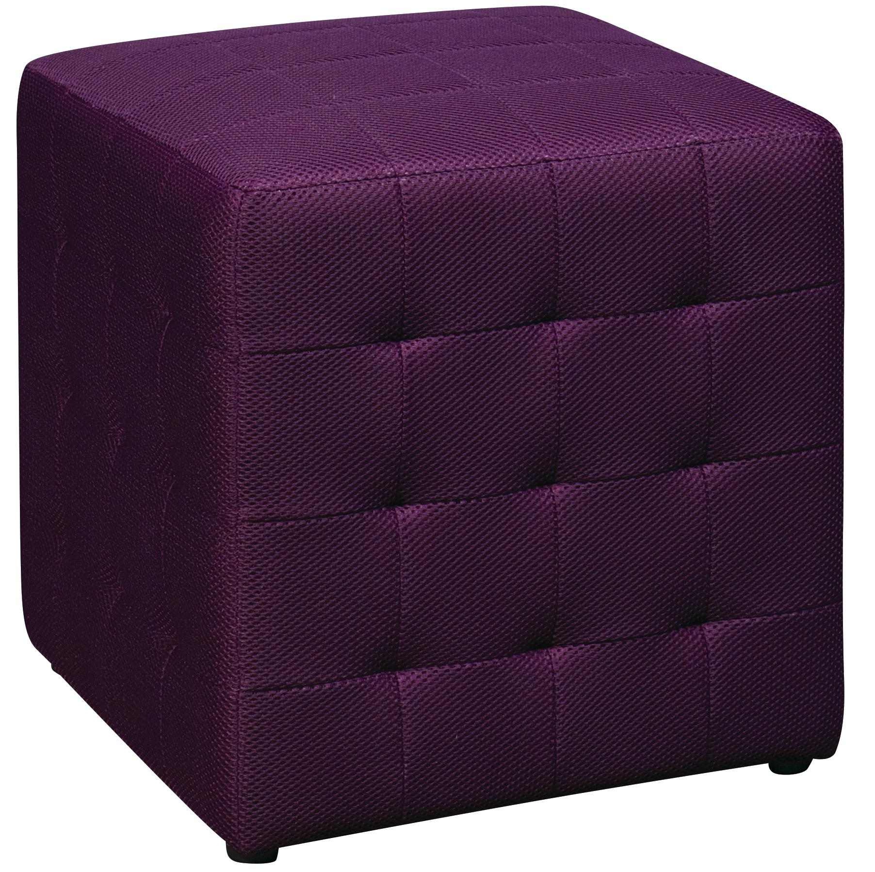 Ottomans Fabric Cube at Sadler's Home Furnishings