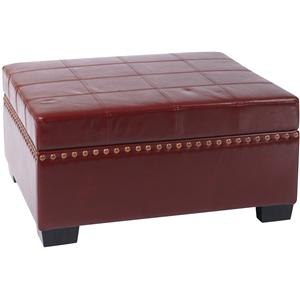Office Star Ottomans Detour Storage Ottoman with Tray