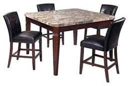 8 Piece Counter Height Dining Set with Stora