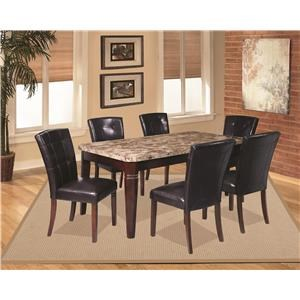 7 Piece Dining Group with Bench and Storage