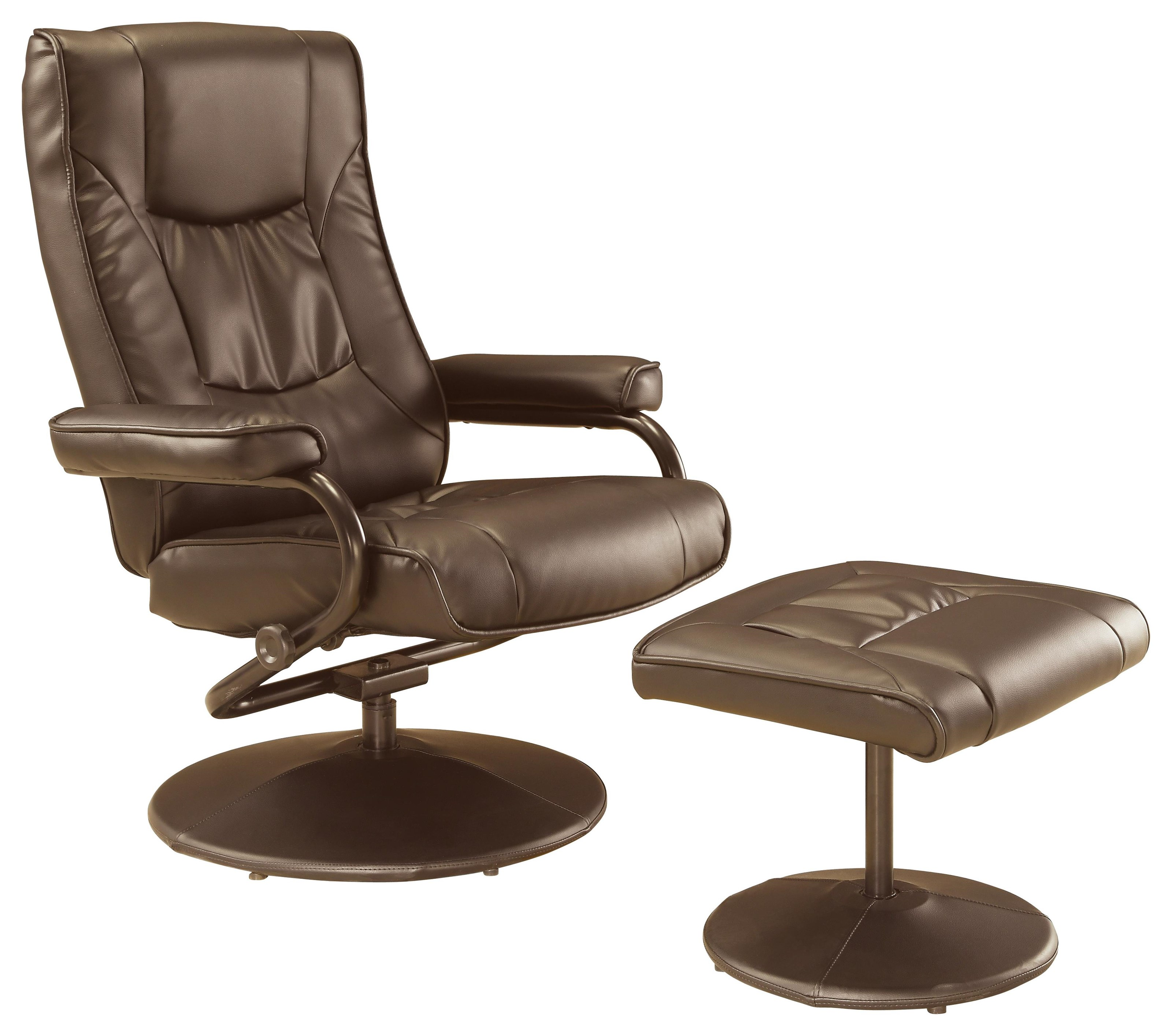 Chairs Brown Swivel Recliner and Ottoman by Offshore Furniture Source at Sam Levitz Furniture