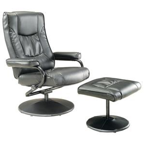 Grey Swivel Recliner and Ottoman
