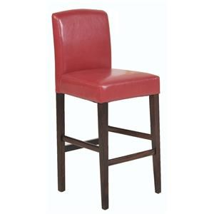 """Pair of 24"""" Counter Height Stools in Red"""