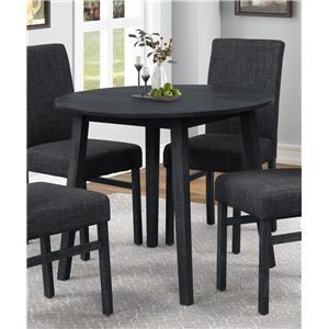 Dark Grey Round Dining Table