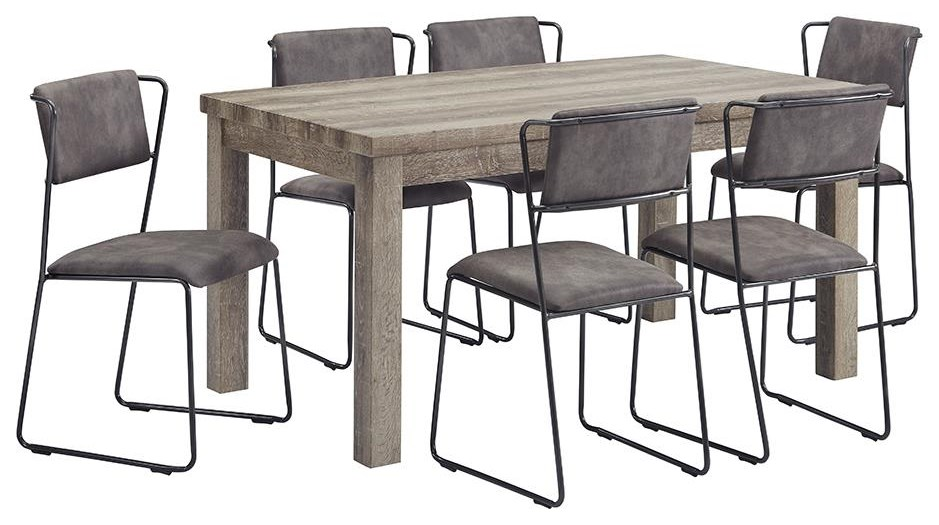 Dining Group 7 Piece Dining Group by Offshore Furniture Source at Sam Levitz Furniture