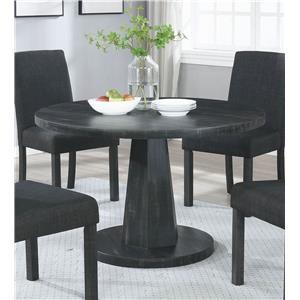 Round Dark Grey Dining Table