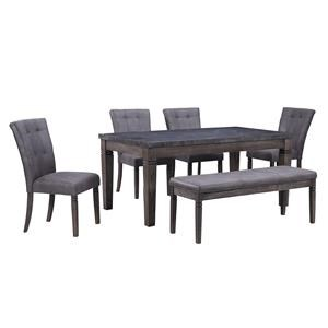5 Piece Dining Set with 2 Benches