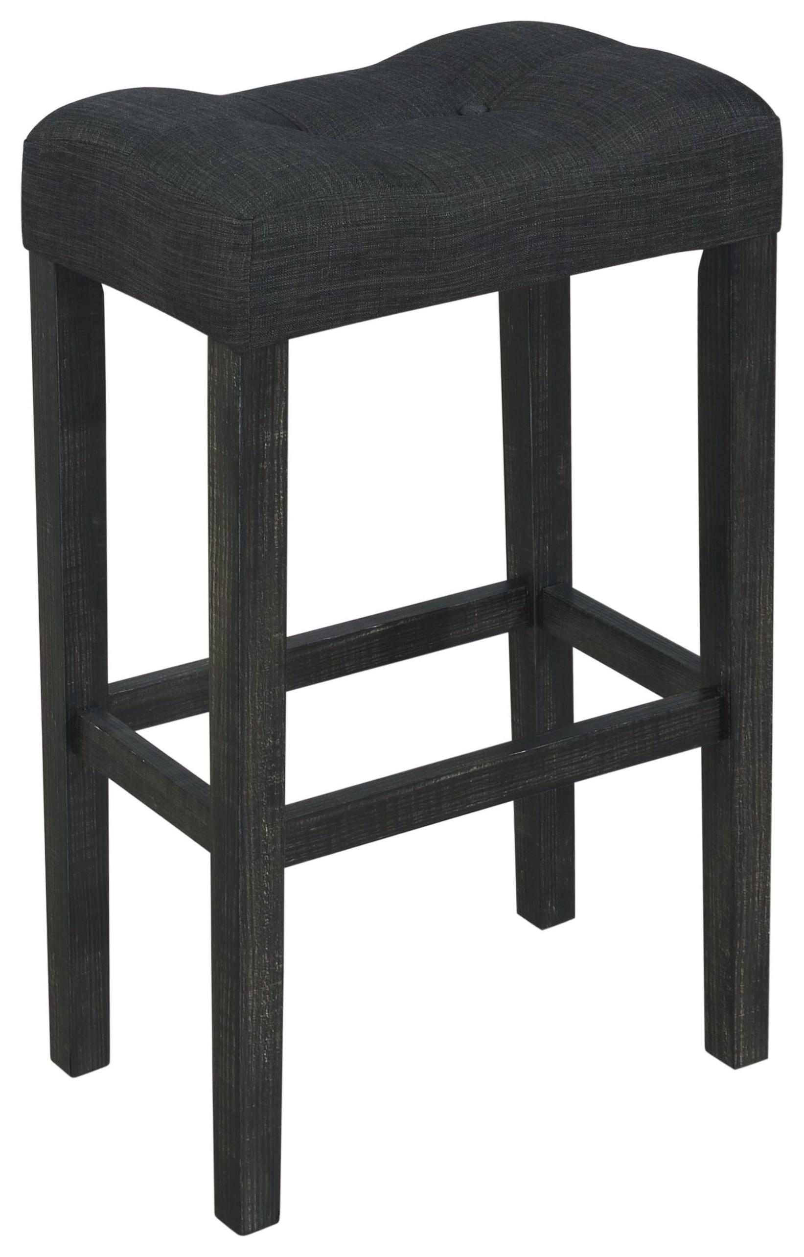 "Portland 24"" Dark Grey Bar Stool by Offshore Furniture Source at Sam Levitz Furniture"