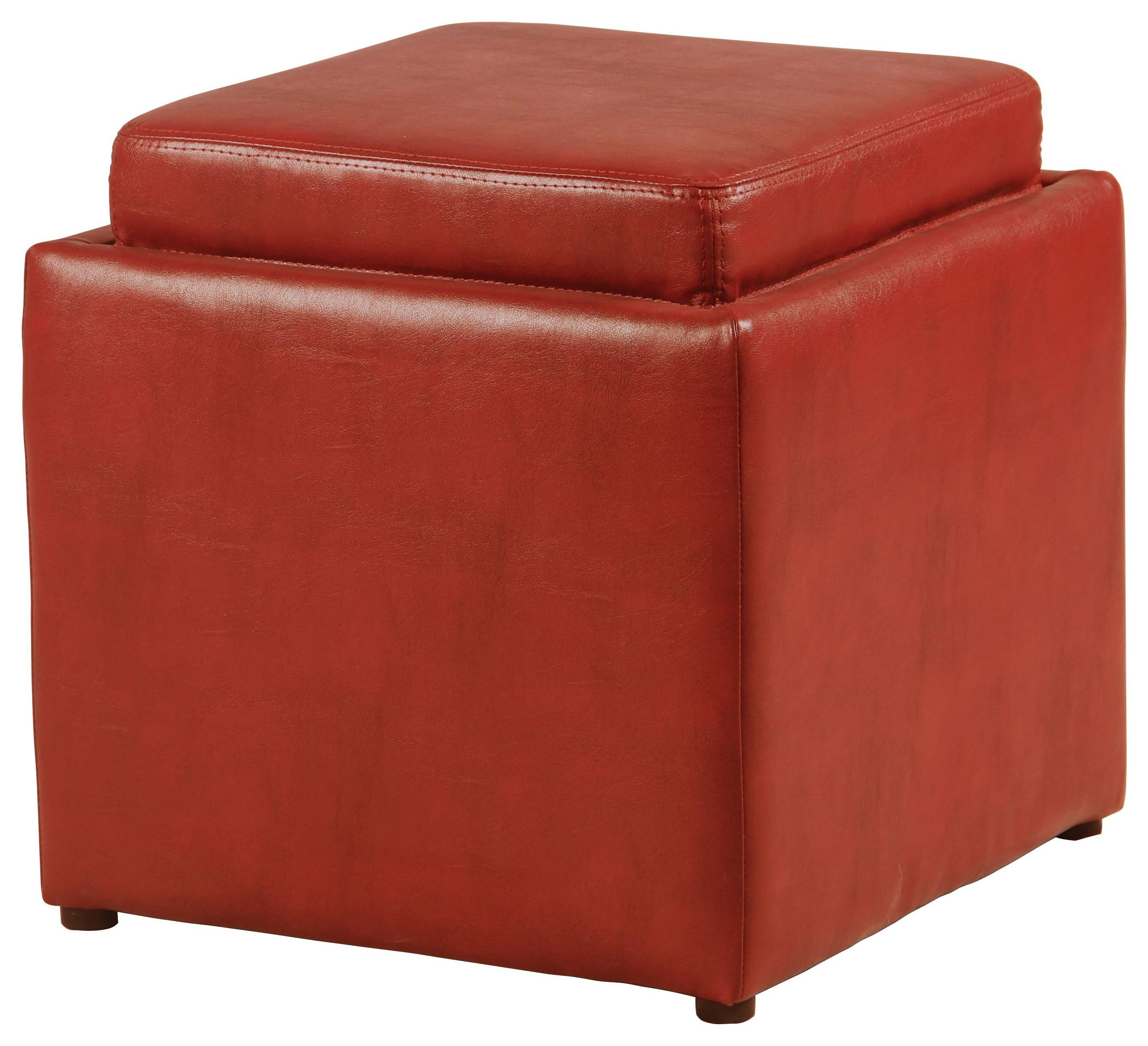 Red Flip Top Storage Cube