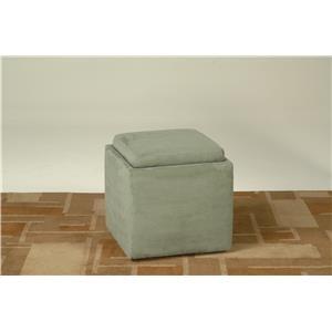 Grey Flip Top Storage Cube