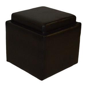 Brown Flip Top Storage Cube