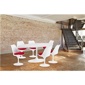 7 Piece Dining Group in Red