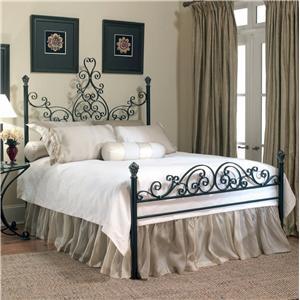Old Biscayne Designs Custom Design Iron and Metal Beds Arabesque Metal Bed