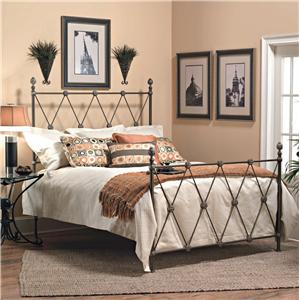 Old Biscayne Designs Custom Design Iron and Metal Beds Diamante Metal Bed