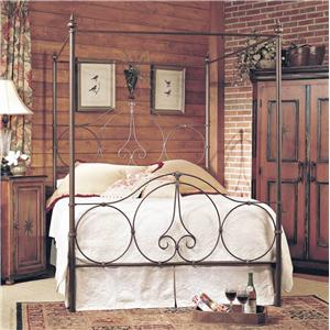 Old Biscayne Designs Custom Design Iron and Metal Beds Phoebe Canopy Bed