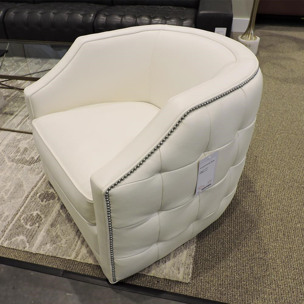 Natalie Swivel Chair by Olivia & Quinn at Belfort Furniture