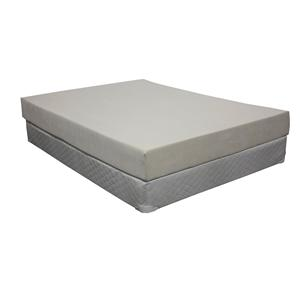 """Omaha Bedding Omaha Bedding Full 8"""" Visco Mattress Set"""