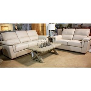 2 Seat Loveseat with Pillow Arms