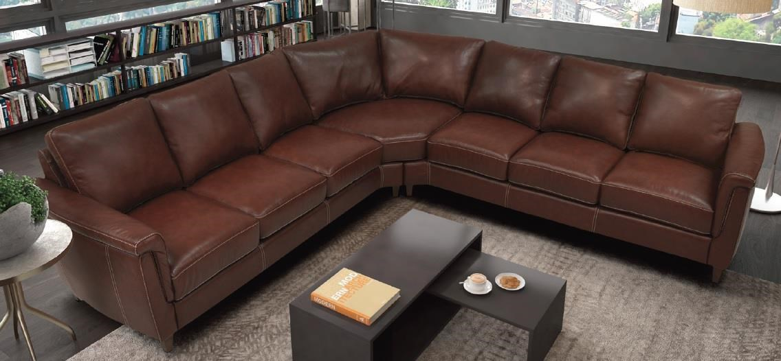 Ellis Sectional by Omnia Leather at Sadler's Home Furnishings