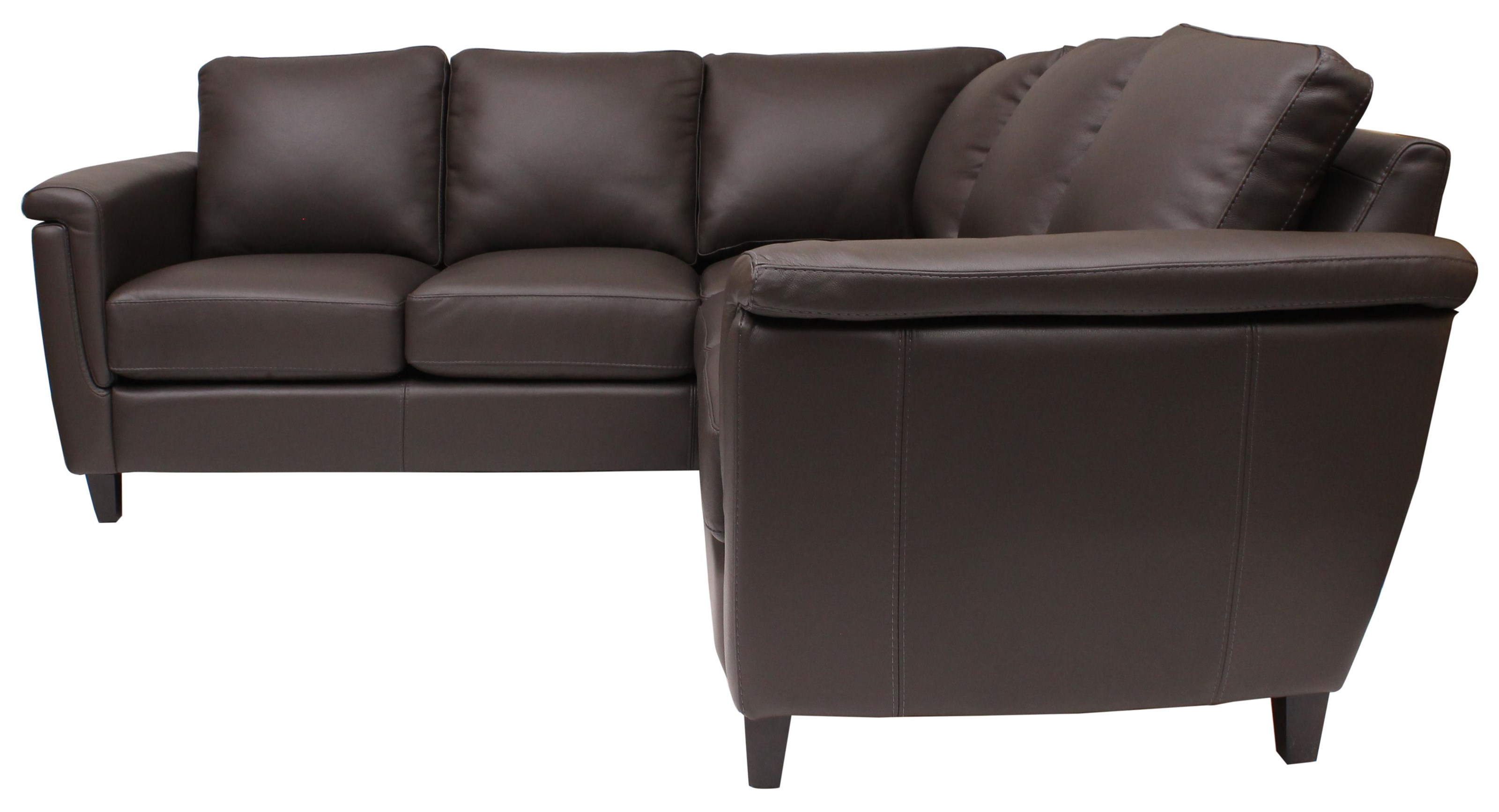 Ellis Sectional by Omnia Leather at HomeWorld Furniture