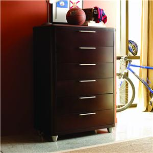 Opus Designs Aura Six Drawer Chest
