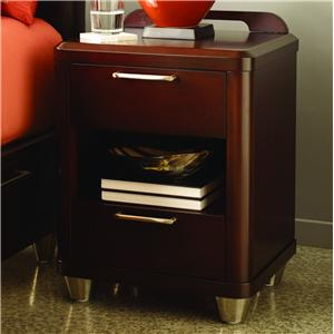 Opus Designs Aura Two Drawer Nightstand