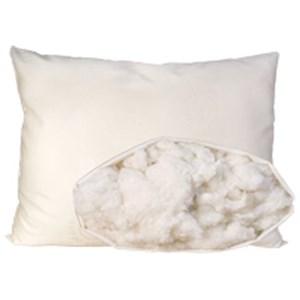 Organic Mattresses, Inc. (OMI) Organic Cotton Pillow Standard Medium Fill Cotton Pillow