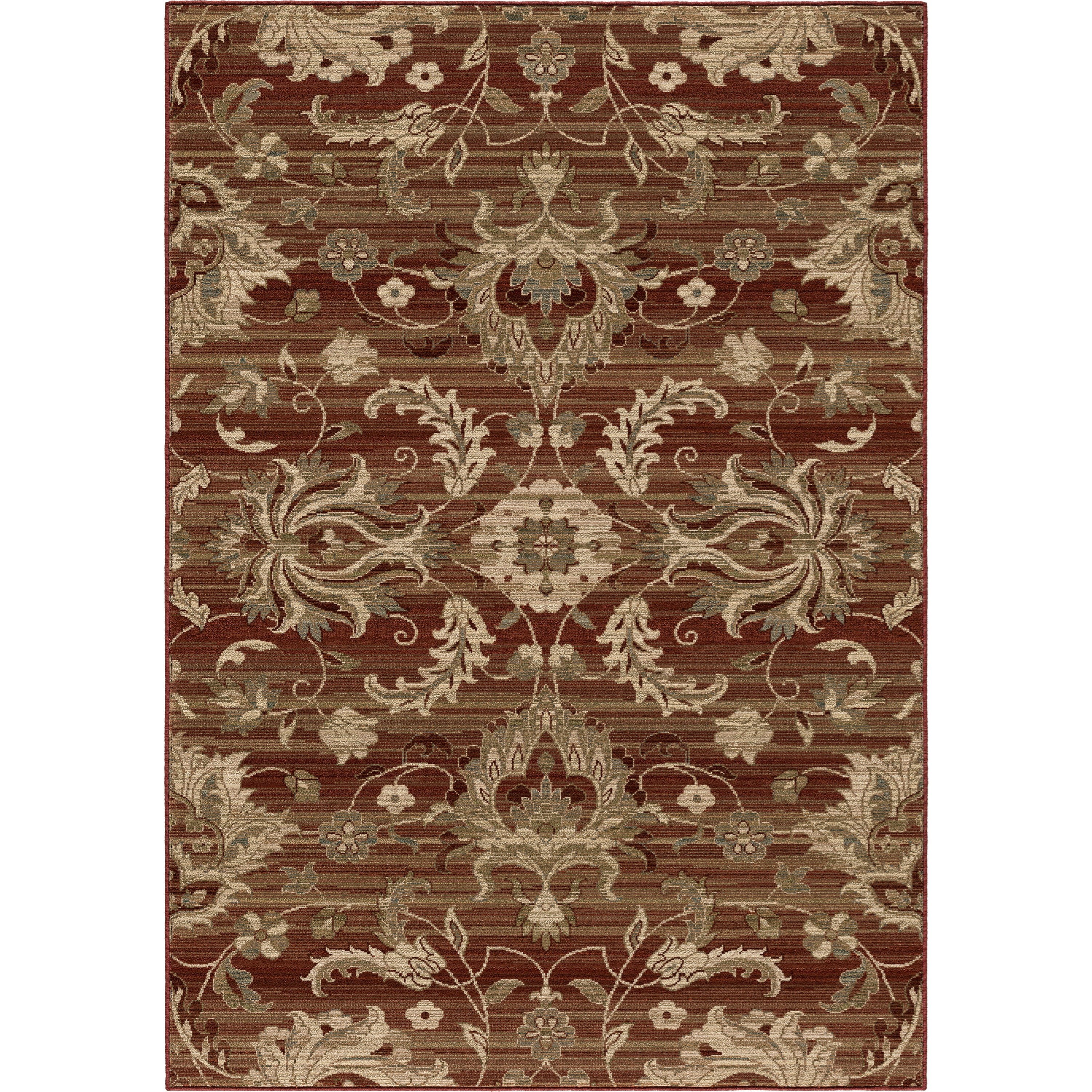 "Elegant Revival Cae Red 5'3"" x 7'6"" Rug by Orian Rugs at Mueller Furniture"