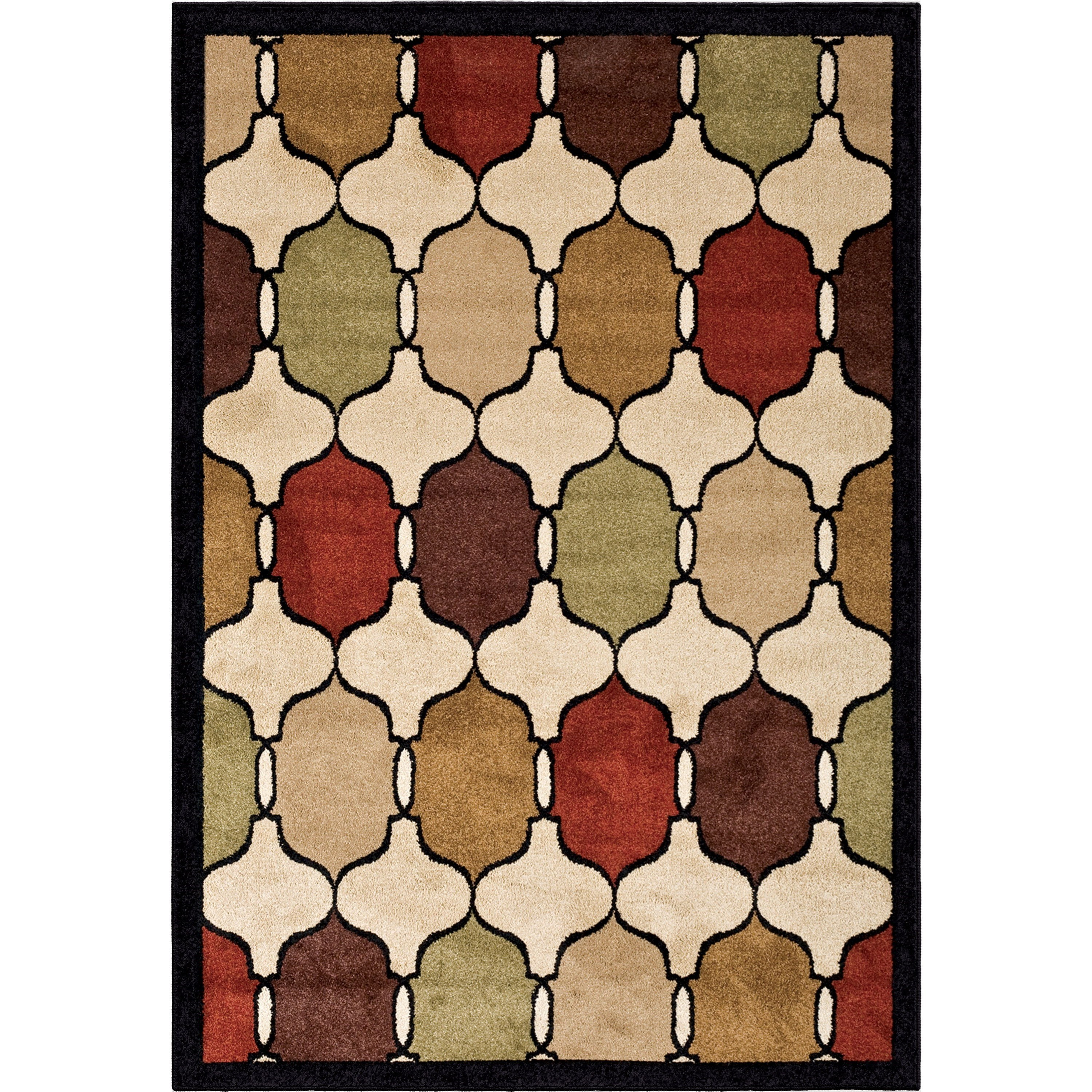 """Four Seasons Hourglass Jet Black 5'2"""" x 7'6"""" Rug by Orian Rugs at Mueller Furniture"""