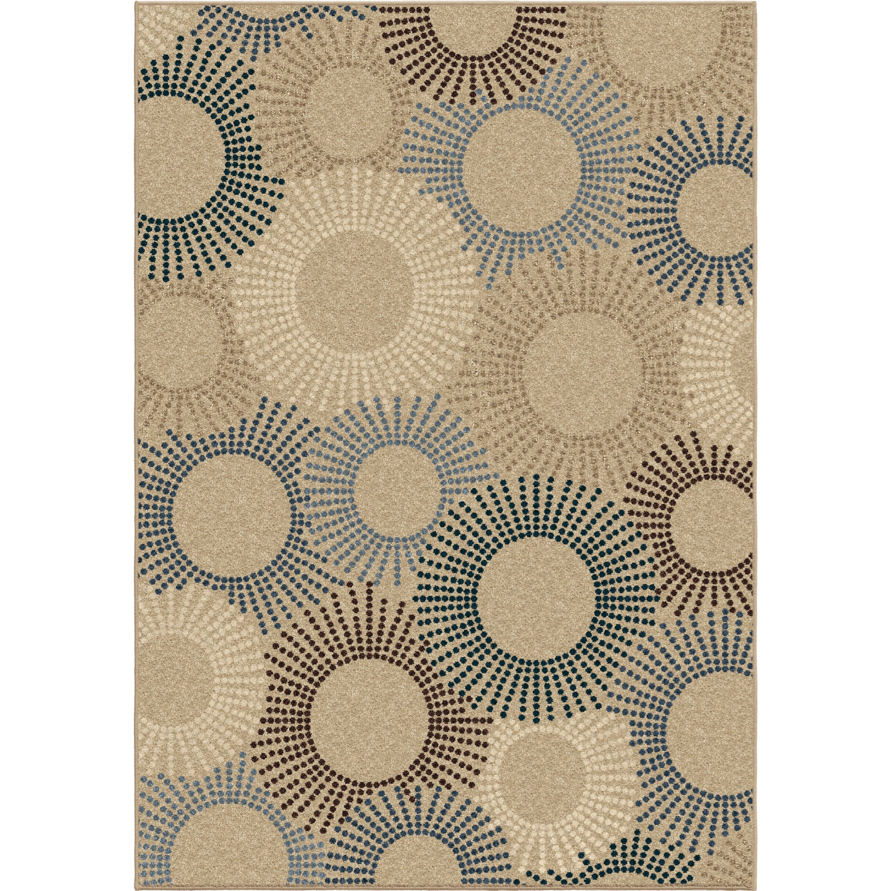 """Four Seasons Ray of Light Beige 5'2"""" x 7'6"""" Rug by Orian Rugs at Mueller Furniture"""