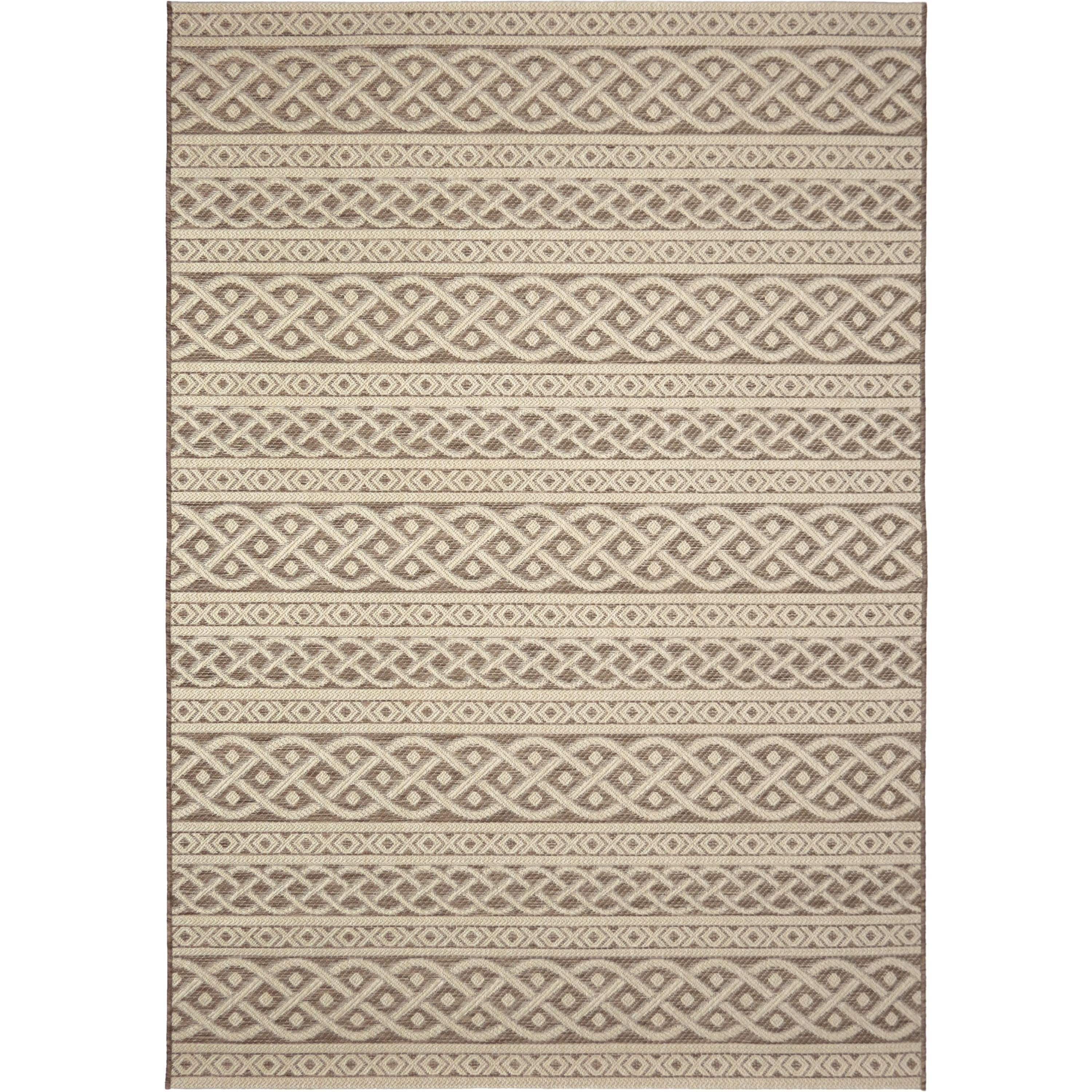 "Jersey Home Organic Cable Tan 5'1"" x 7'6"" Rug by Orian Rugs at Mueller Furniture"