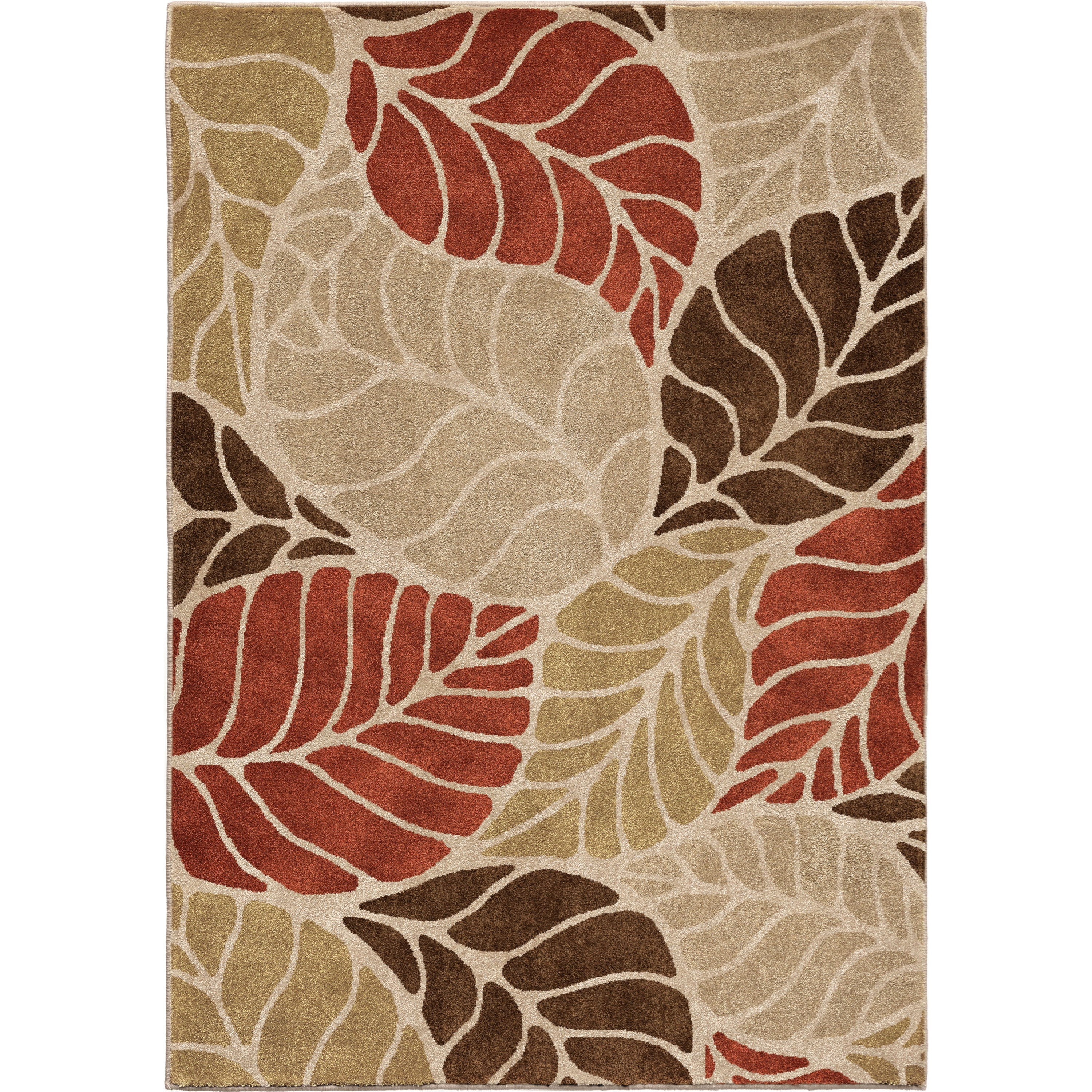"""Radiance Palm Overlay Multi Beige 5'3"""" x 7'6"""" Rug by Orian Rugs at Mueller Furniture"""