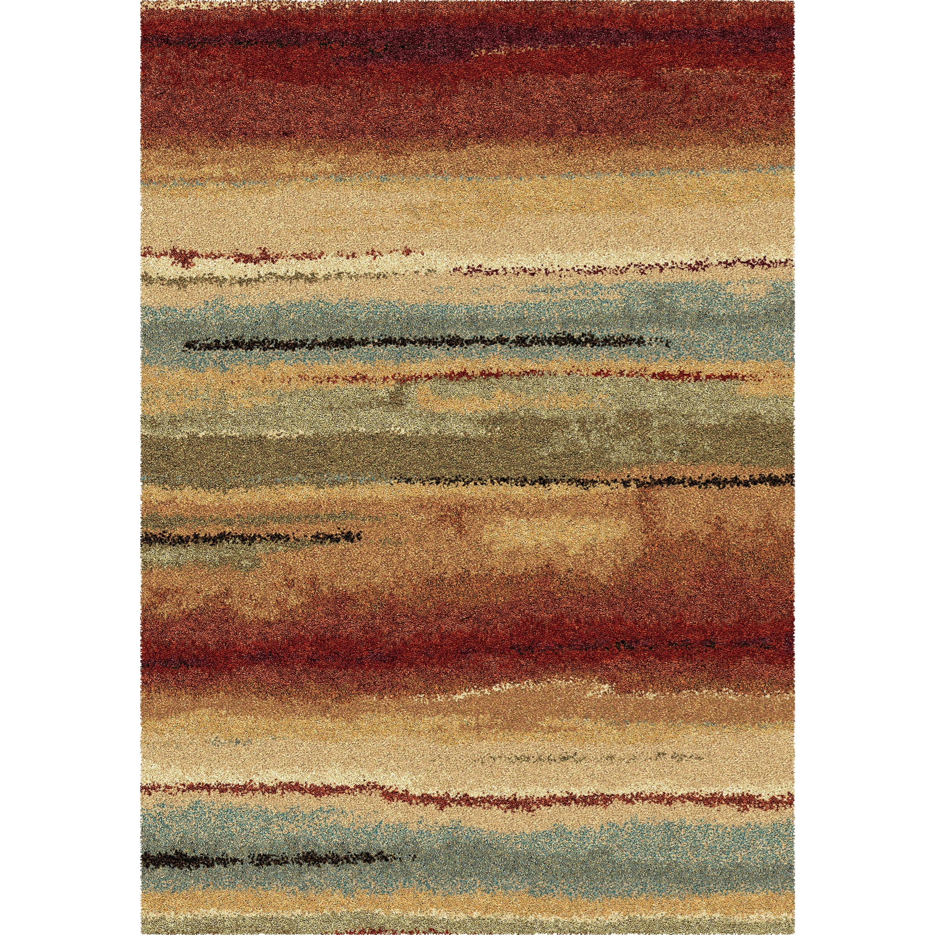 """Wild Weave Dusk to Dawn Multi 5'3"""" x 7'6"""" Rug by Orian Rugs at Mueller Furniture"""