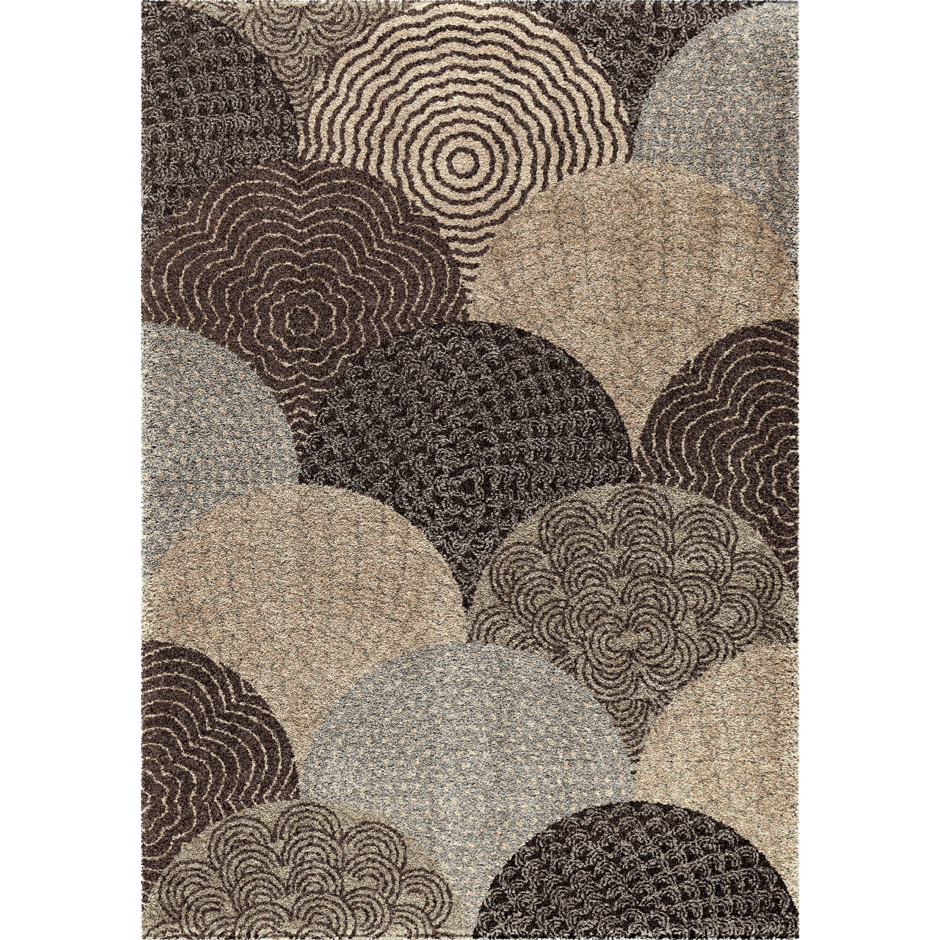 """Wild Weave Oystershell Seal Black 6'7"""" x 9'8"""" Rug by Orian Rugs at Mueller Furniture"""